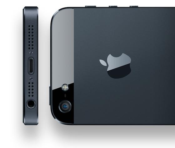 iPhone 5 onderkant en achterkant