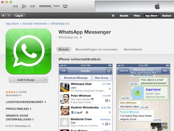 WhatsApp alleen voor nieuwe klanten betaalde dienst