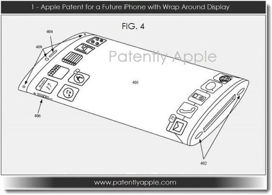 Apple patenteert iPhone met gebogen display
