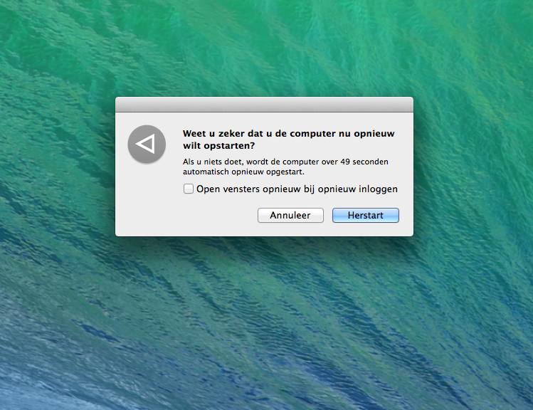 Mac herstarten