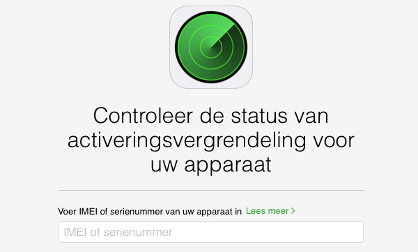 Activeringsslot iPhone controleren