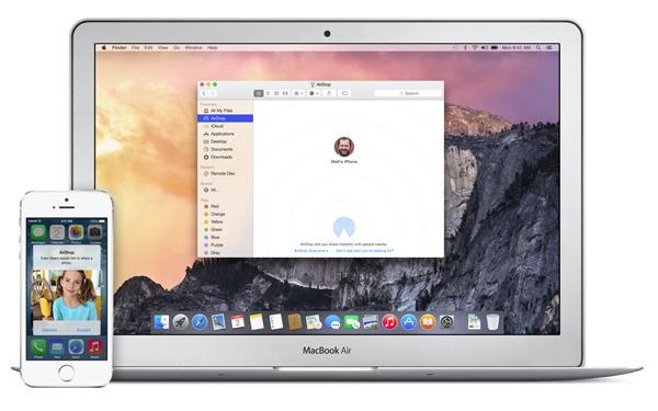 AirDrop Mac iOS