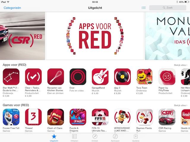 Apple RED Wereld Aids Dag