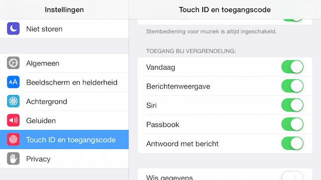 Meldingen op toegangsscherm iPhone
