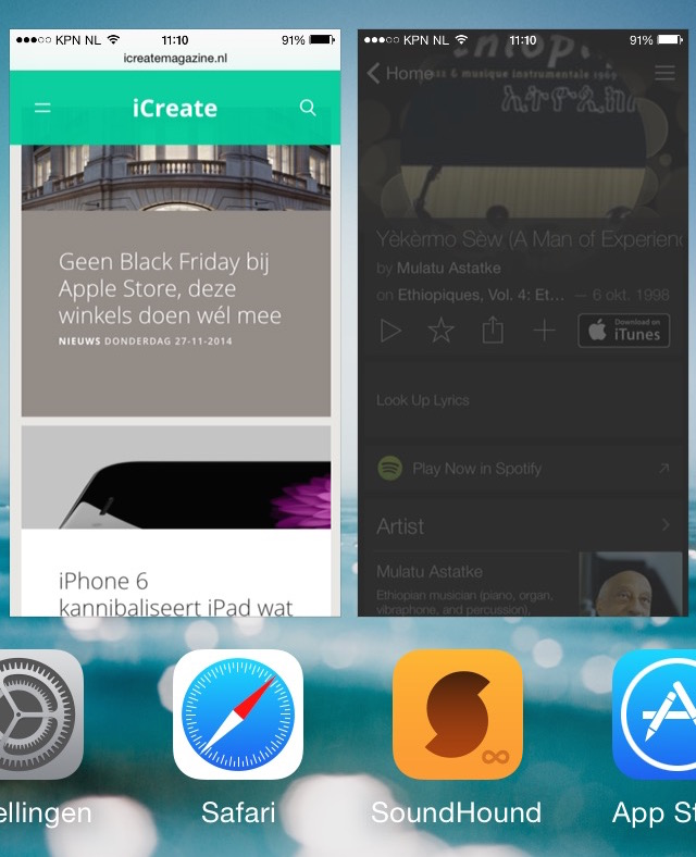 Multitasking iPhone iPad