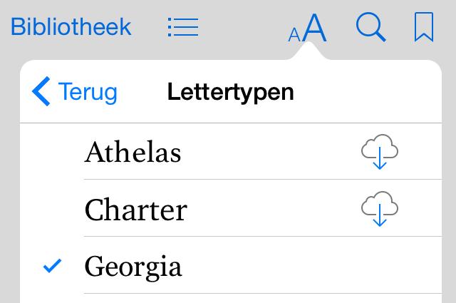 Lettertype iBooks