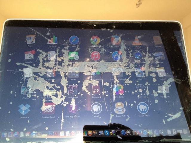 Loslatende coating MacBook Pro