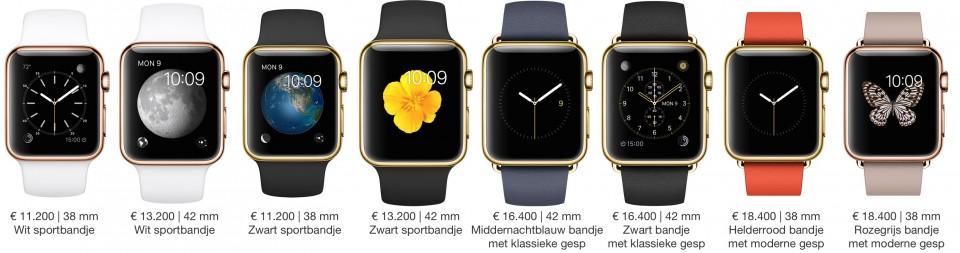 Apple Watch Edition modellen en prijzen