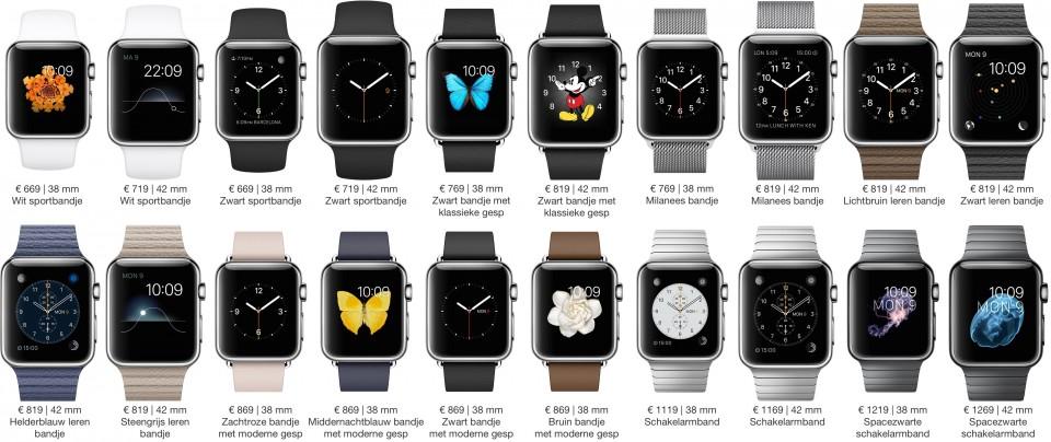Apple Watch: modellen en prijzen