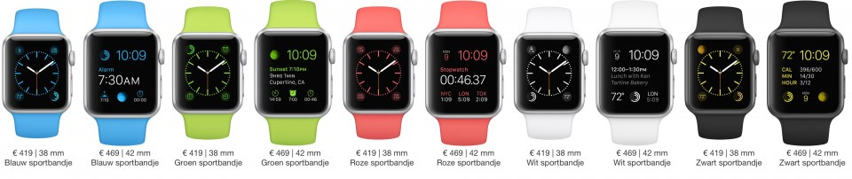 Apple Watch Sport modellen en prijzen