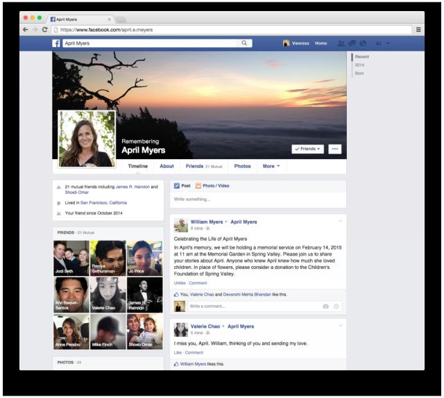 Facebook-account bij overlijden
