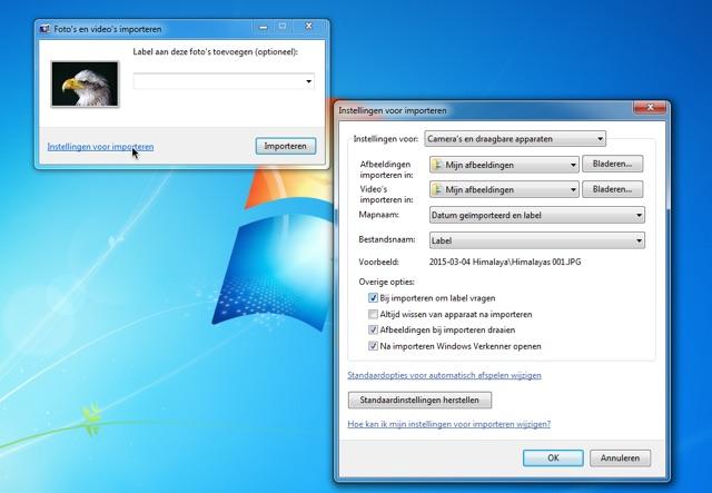 Directory for photos Windows