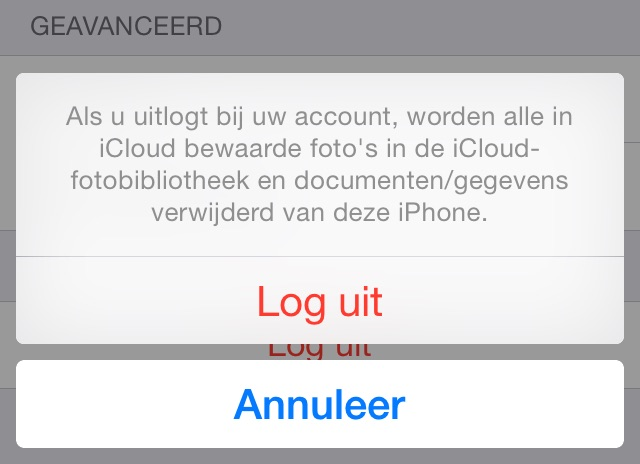 Logout iCloud
