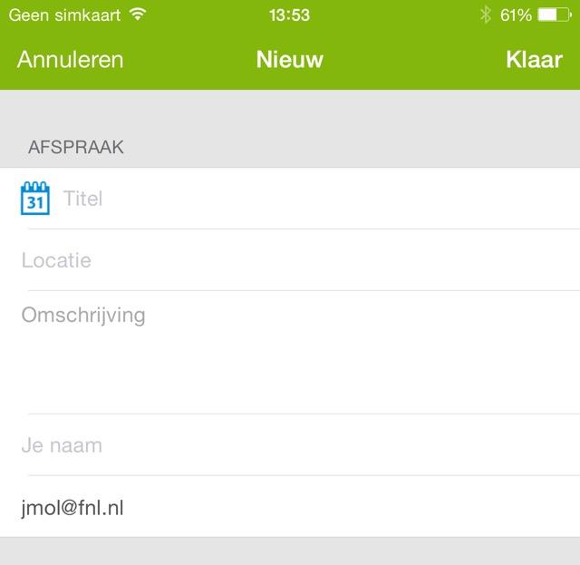 Datumprikker app voor de iPhone