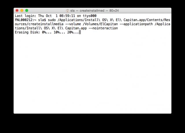 Opstartschijf OS X El Capitan