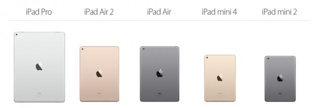 Alle iPads van eind 2015 op een rij