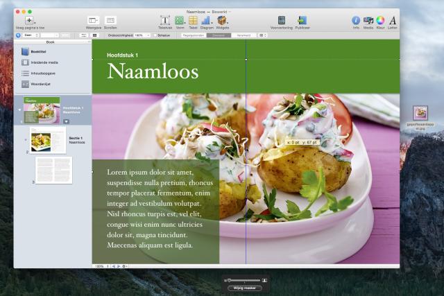 Kookboek iBooks Author: kies een foto
