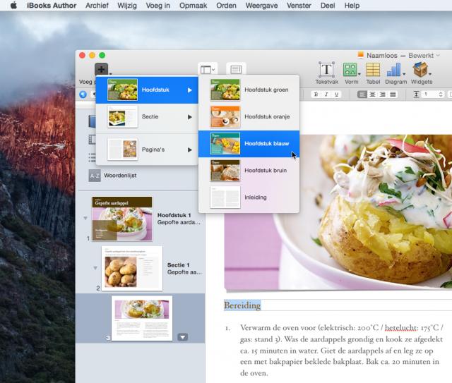Kookboek iBooks Author: meer gerechten toevoegen