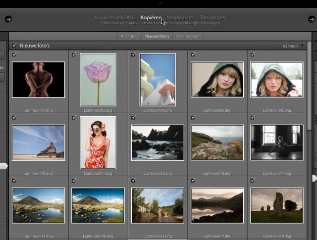 Foto's importeren in Lightroom