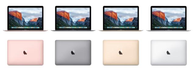 MacBooks op een rij