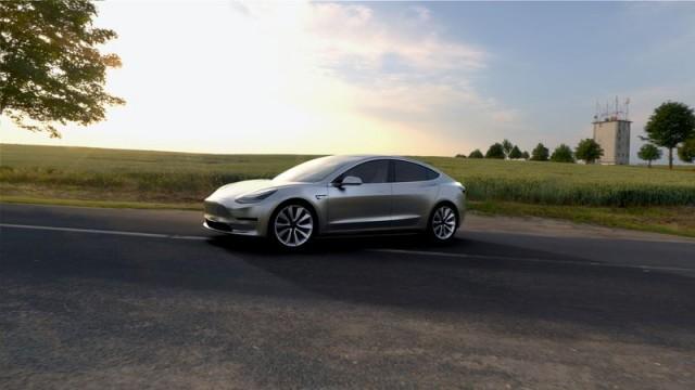 Tesla Model 3 Zilver