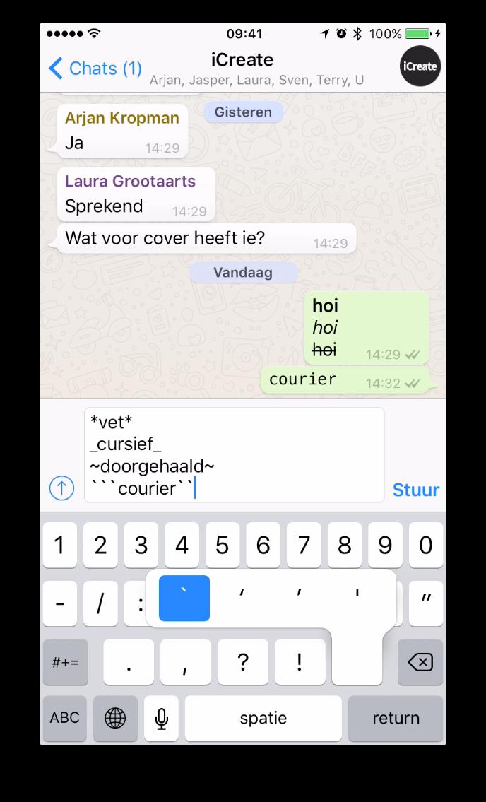 Itip Tekst Whatsapp Opmaken Schuin Dikgedrukt Of Doorgestreept