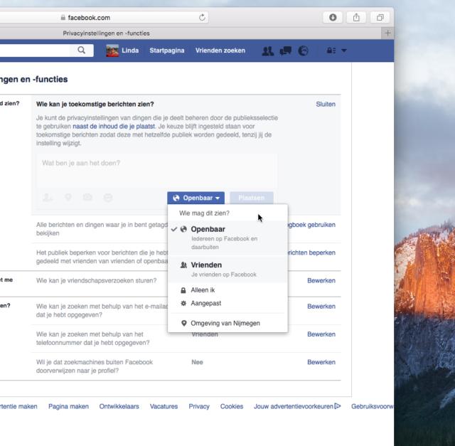 Facebook Privacy-instellingen