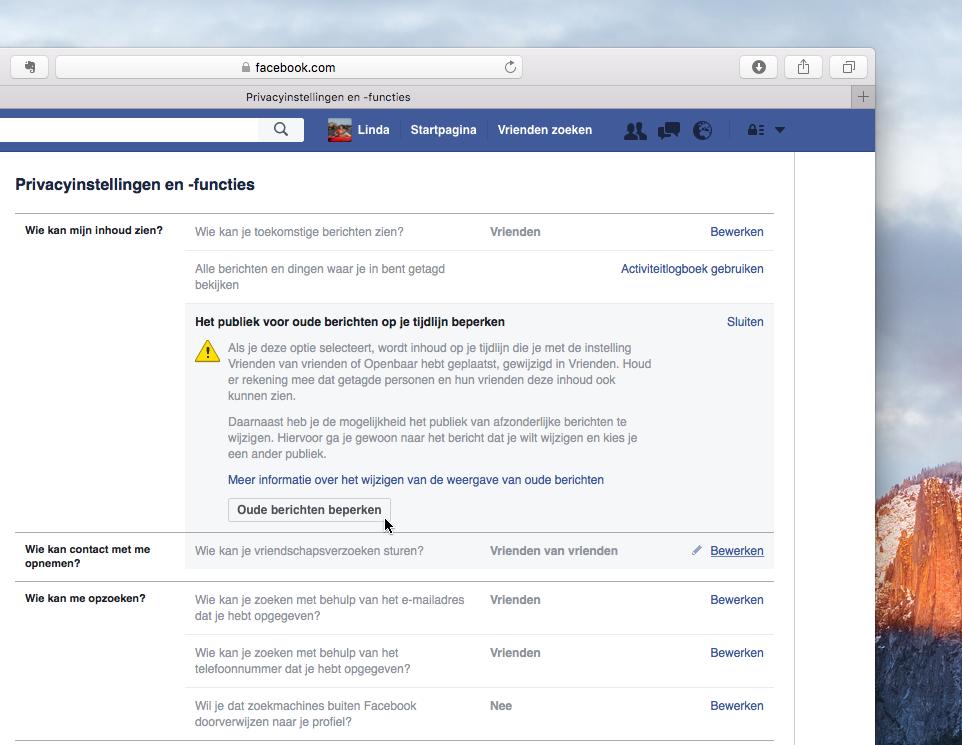 Stel de privacy-instellingen van Facebook goed in - Pagina ...