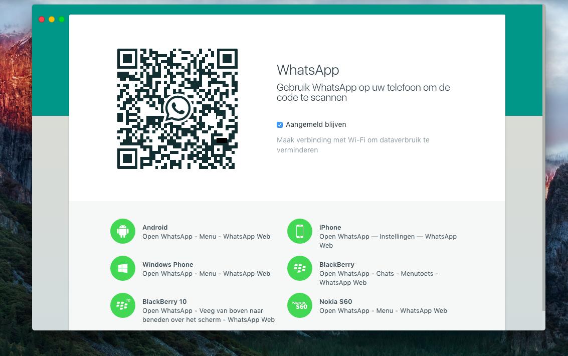 code scannen met mobiel