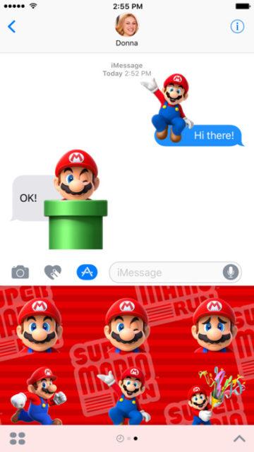 Super Mario Stickers iMessage