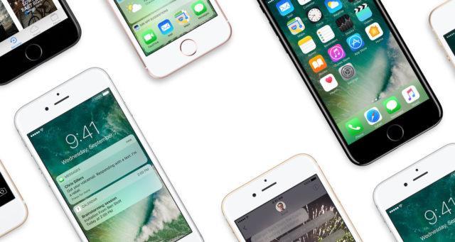 iPhones met iOS 10