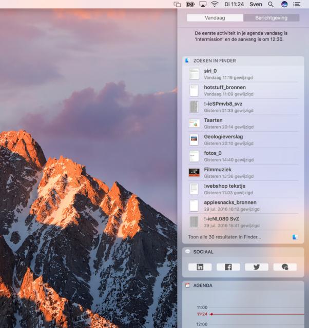 Siri op de Mac