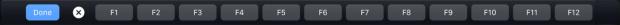 Touch Bar Functietoetsen
