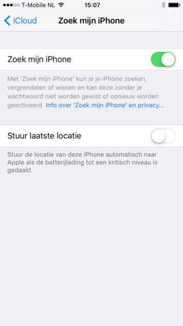 Zoek mijn iPhone iCloud