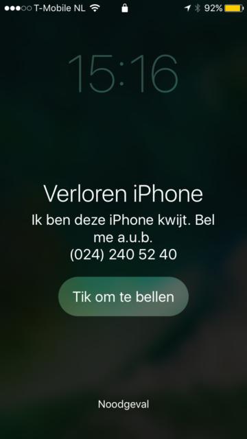 Zoek mijn iPhone verloren-modus