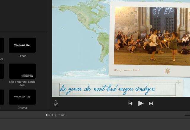 iMovie thema toevoegen