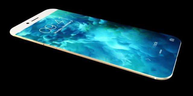 Concept iPhone 8, OLED-scherm, OLED, gebogen, USB-C