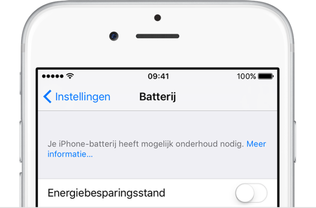 iPhone-batterij onderhoud iOS