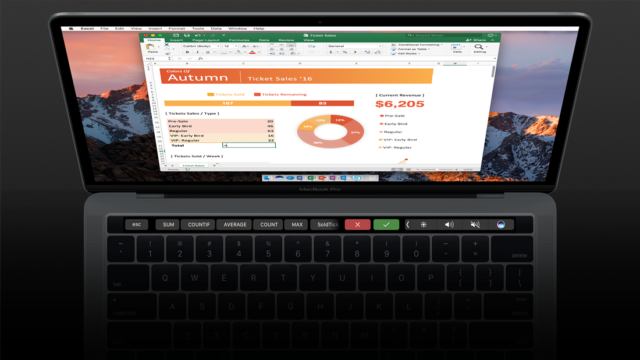 Touch Bar Excel