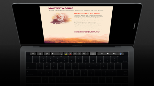 Touch Bar Word
