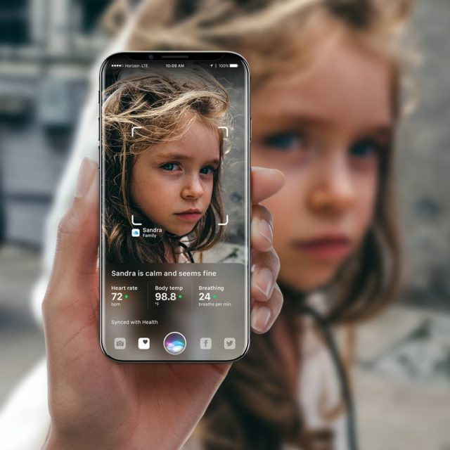 Augmented Reality, iPhone 8, concept