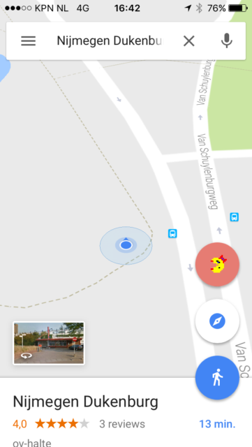 1 april: PacMan spelen Google Maps