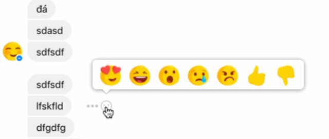 Facebook Messenger reacties