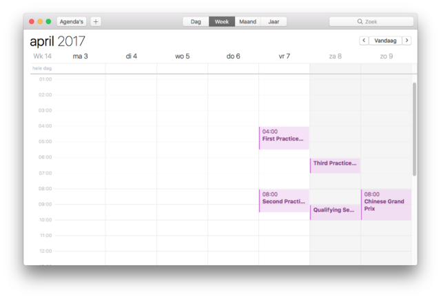 slot kalender