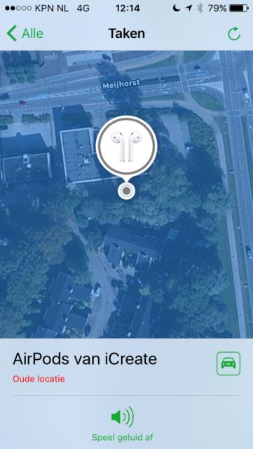 iOS 10.3 Zoek AirPods