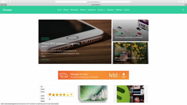 Nieuwe website iCreate