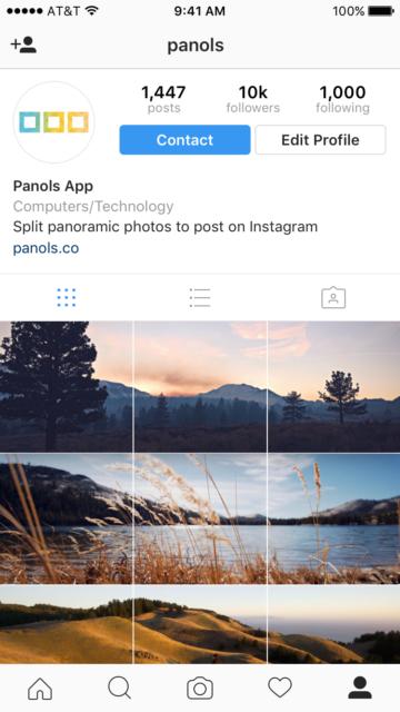 Panols op Instagram