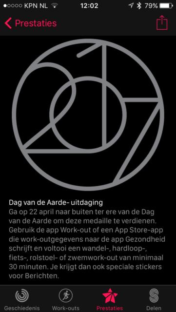 Apple watch dag van de aarde uitdaging