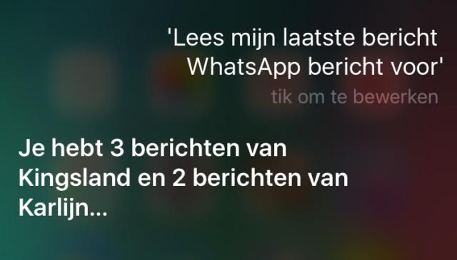 Whatsapp-bericht voorlezen
