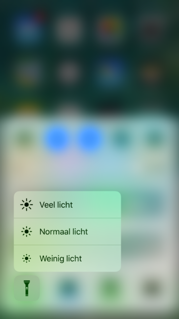 Helderheid zaklamp 3D Touch